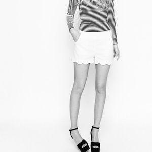 Cynthia Rowley Scalloped Shorts